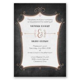 Regal Whimsy - Rose Gold - Foil Invitation