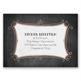 Regal Whimsy - Rose Gold - Foil Reception Card