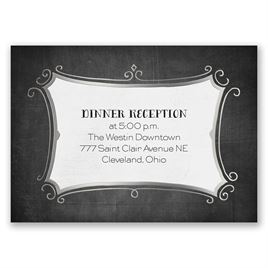 Regal Whimsy - Silver - Foil Reception Card