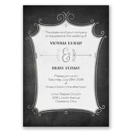 Regal Whimsy - Silver - Foil Invitation
