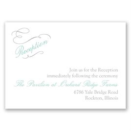 Sophisticated Swirls - Reception Card
