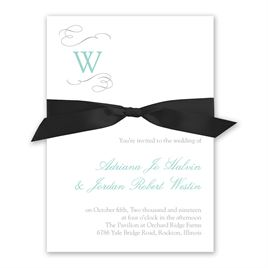 Sophisticated Swirls - Invitation