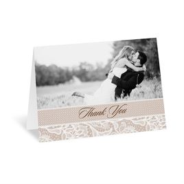 Lace Lining - Thank You Card