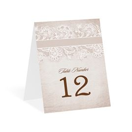 Lace Lining - Table Number Card