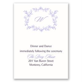 Love Blooms - Reception Card
