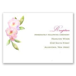 Exquisite Florals - Reception Card