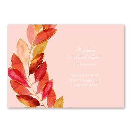 Feathered Fall - Reception Card