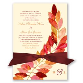 Feathered Fall Invitation
