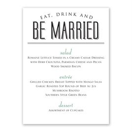 Easily personalized and shipped in a snap! Find a variety of stylish wedding reception menus for an affordable price when you shop Invitations by Dawn.
