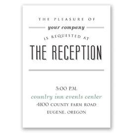A Wedding Celebration - Reception Card