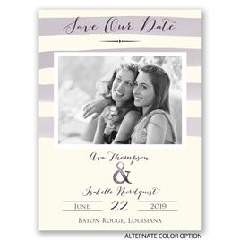 Soft Stripes - Save the Date Card