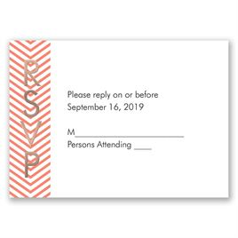Truly Modern - Rose Gold - Foil Response Card