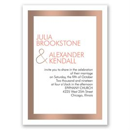 Truly Modern - Rose Gold - Foil Invitation