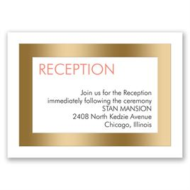 Truly Modern - Gold - Foil Reception Card