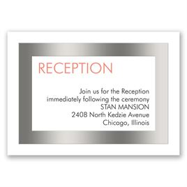 Truly Modern - Silver - Foil Reception Card