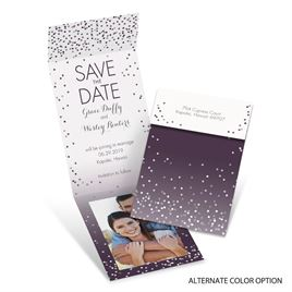 Confetti - Fold Up Save the Date