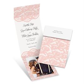 Vintage Save the Dates: Lacy Gates Fold Up Save the Date
