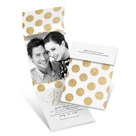 Polka Dot Glam - Fold Up Save the Date