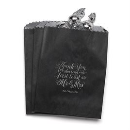 First Toast - Black - Favor Bags
