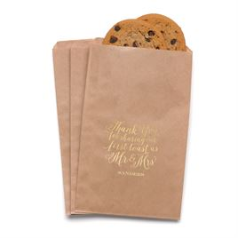 First Toast - Kraft - Favor Bags