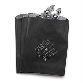 Heart and Arrow - Black - Favor Bags