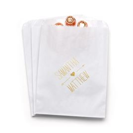 Heart and Arrow - White - Favor Bags