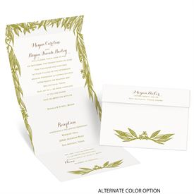 Cascading Leaves - Seal and Send Invitation