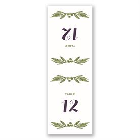Cascading Leaves - Table Number Card