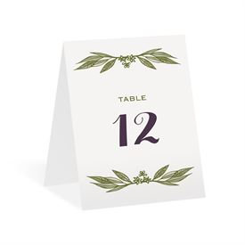 Cascading Leaves Table Number Card