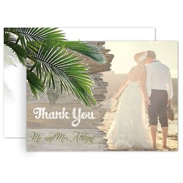 Beach: Palm Tree Paradise Thank You Postcard