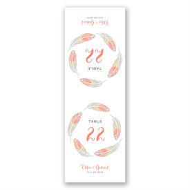 Dancing Feathers - Table Number Card