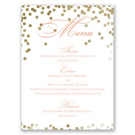 Gold Polka Dots - Menu Card