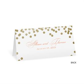 Gold Polka Dots - Place Card