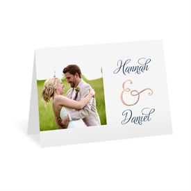 Perfect Pair - Rose Gold Foil - Thank You Card