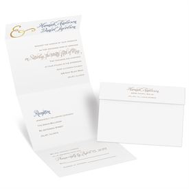 Seal And Send Wedding Invitations.Perfect Pair Foil Seal And Send Invitation
