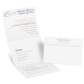 Perfect Pair - Rose Gold Foil - Seal and Send Invitation
