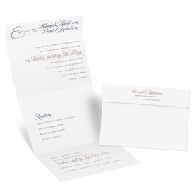 Perfect Pair - Silver Foil - Seal and Send Invitation