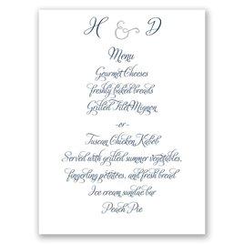 Perfect Pair - Silver Foil - Menu Card
