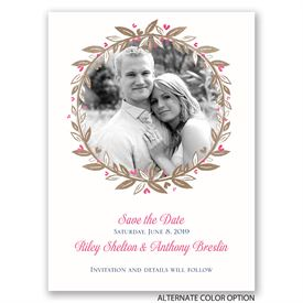 Boho Save the Dates: Budding with Love Save the Date Card