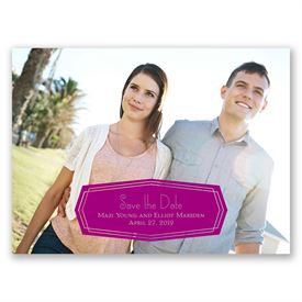 Purple Save The Dates: Banner Beauty Save the Date Card