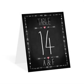 Points to Love - Table Number Card