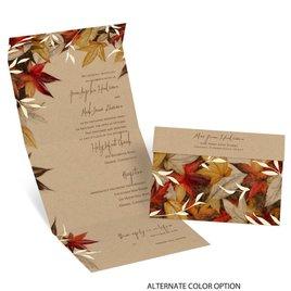 Autumn Maple - Seal and Send Invitation