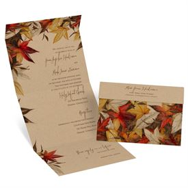 Autumn And Fall Wedding Invitations: Autumn Maple Seal And Send Invitation