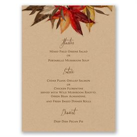 Autumn Maple - Menu Card
