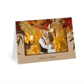 Thank You Cards Autumn Maple Card