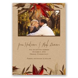 Brown Save The Dates: 