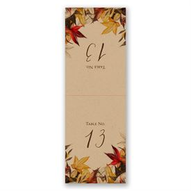 Autumn Maple - Table Number Card