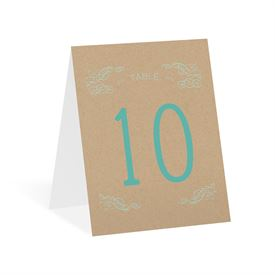 So Inviting - Table Number Card