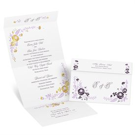 Seal And Send Wedding Invitations.Roses And Whimsy Foil Seal And Send Invitation
