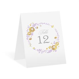 Roses and Whimsy - Gold Foil - Table Number Card